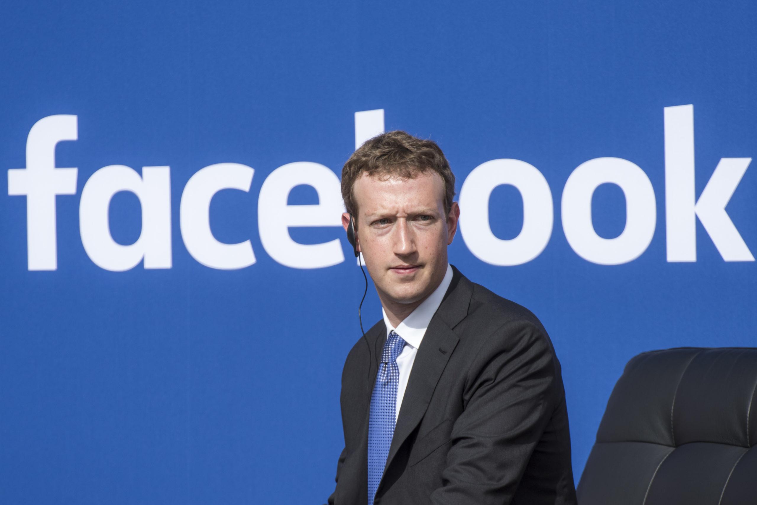 Mark Zuckerberg, chief executive officer of Facebook