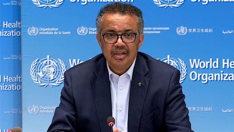 : Director General of the World Health Organization (WHO) Tedros Adhanom Ghebreyesus