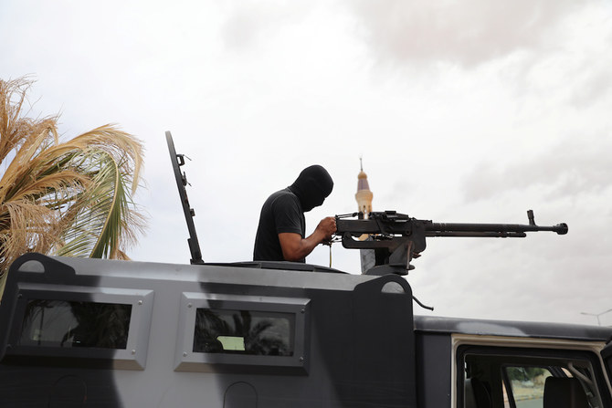A member of security forces loyal to Libya's-