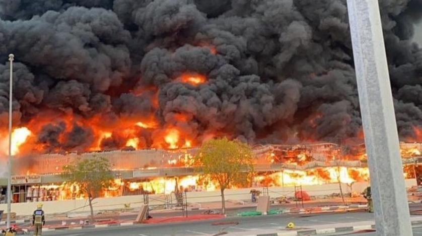 Huge fire in Ajman