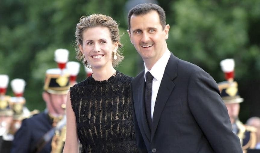Syria's President Bashar al-Assad and his wife