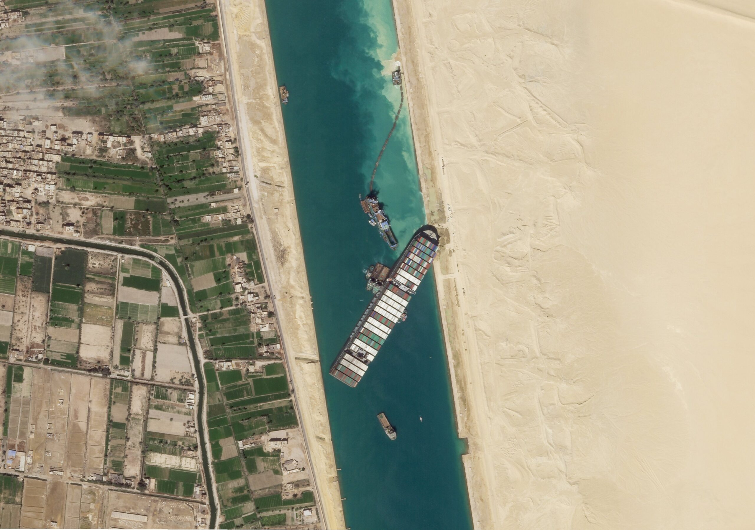 the container ship that blocked the Suez Canal